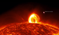 "Never-Before-Seen Video Shows Fire Raining On the Sun  ""On July 19, 2012, the Sun produced a medium-size solar flare,"" NASA says on this new video captured by its Solar Dynamics Observatory, ""what occurred with the flare was amazing."" It's true. It's amazing. Fire started to fall down like rain—a hell waterfall many times the size of planet Earth. You have to watch this uncanny document for yourself."