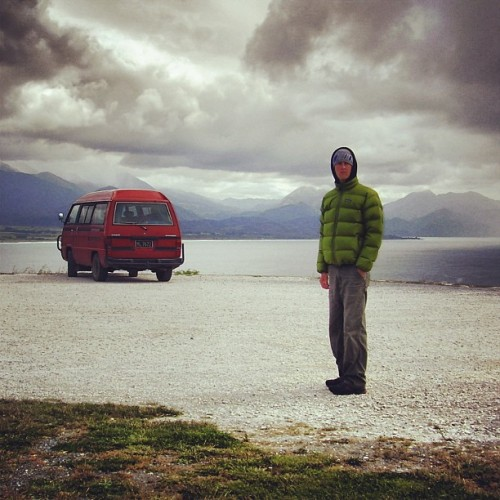 A man and his $900 '84 Mitsubishi Starwagon. South Island, New Zealand, November '05.