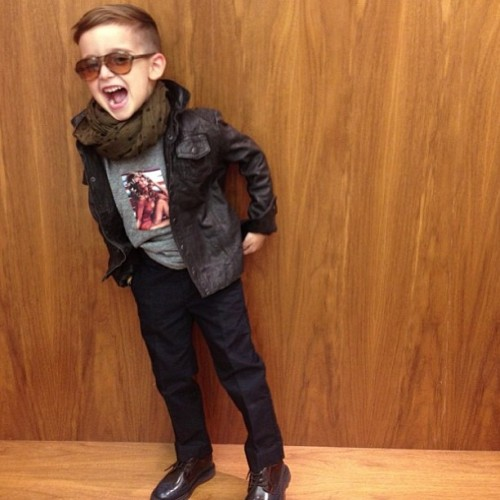 My Son Alonso Has more style than me… And that anybody else . Point blank 👌👔