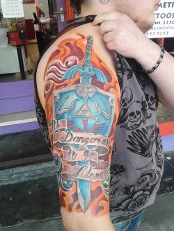fuckyeahtattoos:  Zelda half sleeve. Done by NailZ at Joy of Ink in Victoria, Australia