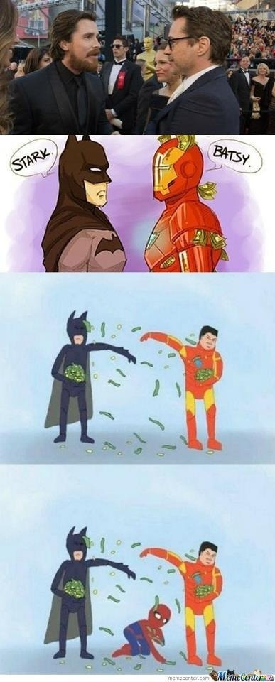 When superheroes meet plus spiderman.