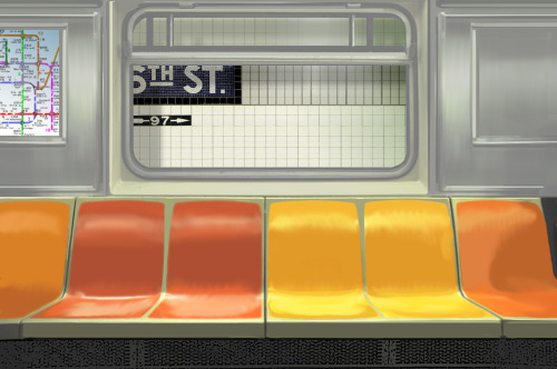 "hitrecord:  ""Subway Interior 2""  Photo by artanon == MattConley (Community Director) writes: ""Fabulous resource for the ""Subway Existentialist"" collaboration! Very sleek and polished set design for the subway car, and cool background too! :D""  == Contribute to the ""'Subway Existentialist' Short Film"" Collaboration HERE!"