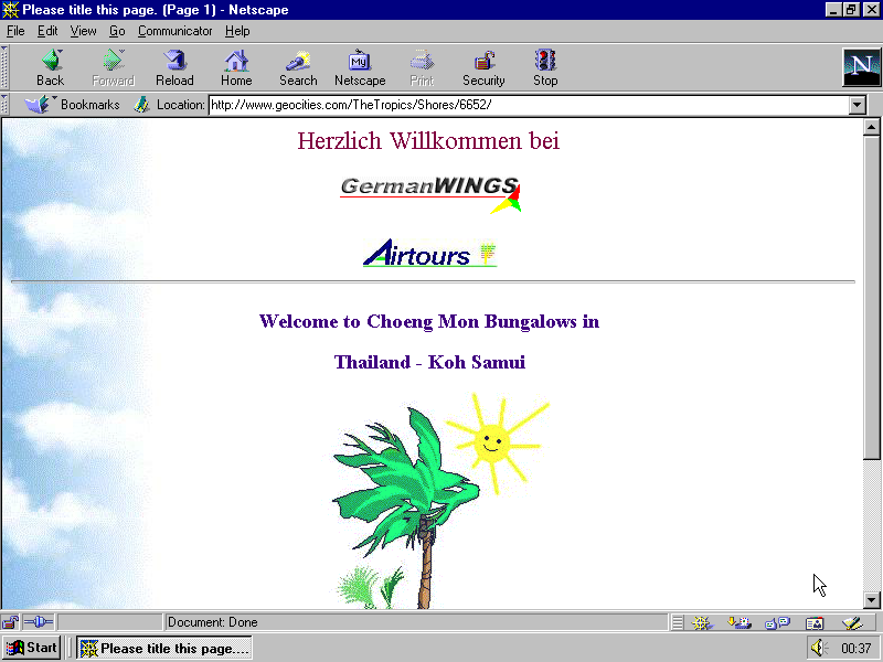 original url http://www.geocities.com/TheTropics/Shores/6652/  last modified 1997-09-29 16:34:04