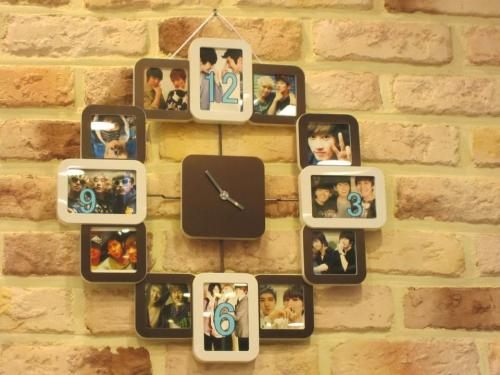 the clock in TLJ with the members on it ^^: (cr:nksubs)   I want onenof these at my room! CD