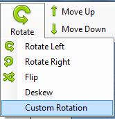 "Choose ""Rotate"" > ""Custom Rotation"""