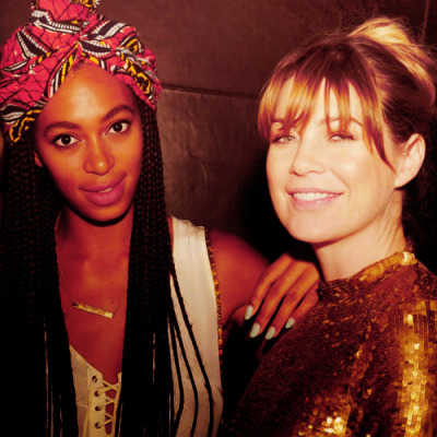 ellenspedia:  Ellen and Solange;