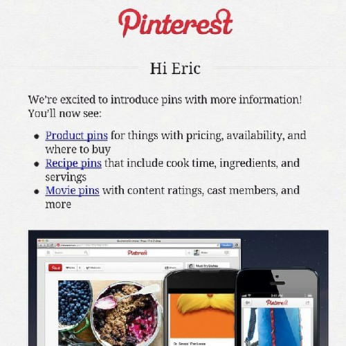 Pretty nice #updates from @Pinterest. I don't use it often, but still nicely done.