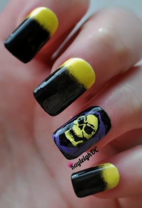 St. Skeletor's Day nail art ;)