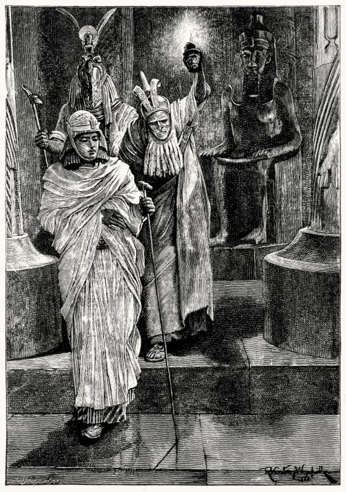 And we went forth.  Richard Caton Woodville, from Cleopatra, by Henry Rider Haggard, London, 1894.  (Source: archive.org)