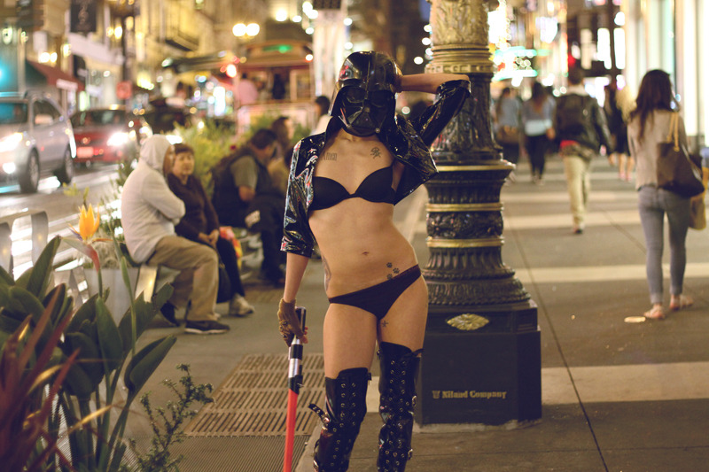 """The force is with you, young Skywalker"" In San Francisco - Photo by Moses  http://photosbymoses.tumblr.com/ Video : http://vimeo.com/66527564"