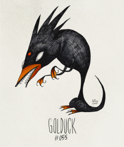 hatboy:  Golduck #055 Part of The Tim Burton x PKMN Project By Vaughn Pinpin