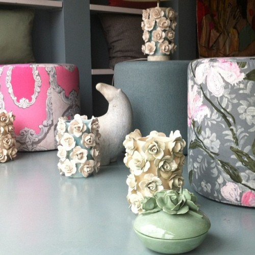 "ceramics ""roses ""by Supercosy              Designers guild fabrics"