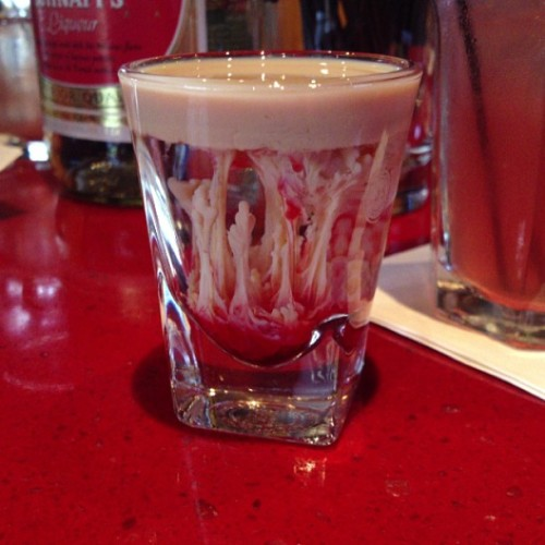 Brain hemorrhage! #shots #irishcream #peach #schnapps #seniordays #classof2013