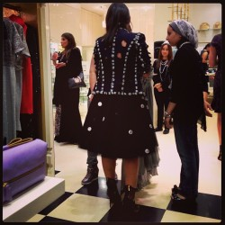 Loved @zayanthelabel in #chanel jacket and #zayan skirt! We haven't met a #polkadot we haven't liked! #punkupthevolume #punkupthevolume #ballgownsgonepunk #sauceloves #dubai #dubaimall #party
