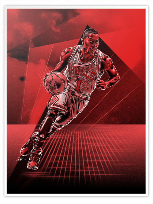 daniel-m-hatcher:  Derrick Rose illustration