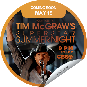 I just unlocked the ACM Presents: Tim McGraw's Superstar Summer Night Coming Soon sticker on GetGlue                      1992 others have also unlocked the ACM Presents: Tim McGraw's Superstar Summer Night Coming Soon sticker on GetGlue.com                  Tim McGraw hosts a star-studded concert to support ACM Lifting Lives. Tune in Sunday, May 19 at 9/8c on CBS. Share this one proudly. It's from our friends at Academy of Country Music.