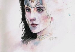 Wonder Woman watercolor by Philip Cruz