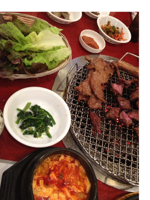 Yum. It was a series of food firsts this week. We continue with Korean Food in Flushing, Queens. This restaurant was next to a series of other Korean restaurants in the area, but what made this particular restaurant stand out was the way they cooked the meat. Many other Korean BBQ places use gas grills, but this restaurant uses charcoal grills, giving it a better taste and texture.  The dinner came with appetizers that were served on little plates to compliment the meal. The appetizers came in a variety of tastes, anywhere from little mushrooms and potatoes to kale and egg. The service was great also. The waiters were extremely efficient in customer service and helpful when suggesting what meats to prepare.  Overall, it was delicious and a great experience.