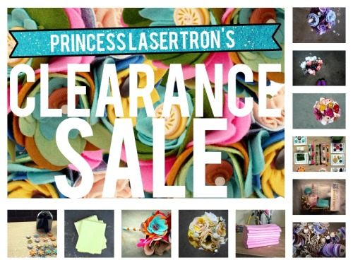 Time to get this inventory outta here! Use code TAKE60 at shop.princesslasertron.com for 60% absolutely everything in the shop. Kits, bouquets, and hand-dyed wool felt while supplies last are waiting to be yours to brighten up your day or add the perfect personalized touch to you big day. Use code TAKE60 and feel free to share with friends! xx