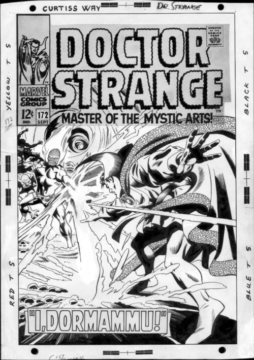 The cover to DOCTOR STRANGE #172 by Gene Colan and an undetermined inker. The GCD says Tom Palmer, but that doesn't look to me like Palmer's work. I'd be inclined to guess somebody like Dan Adkins.
