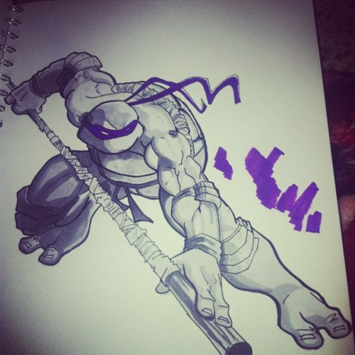 Damn can u see were my marker was bleeding .. #donatello #tmnt #copic #copicmarker #ninjaturtle #draw #drawing #doodle #sketch