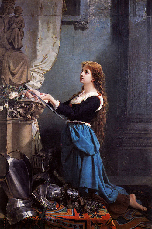 marthajefferson:  tamburina:  Laure de Châtillon, Joan of Arc Kissing the Sword