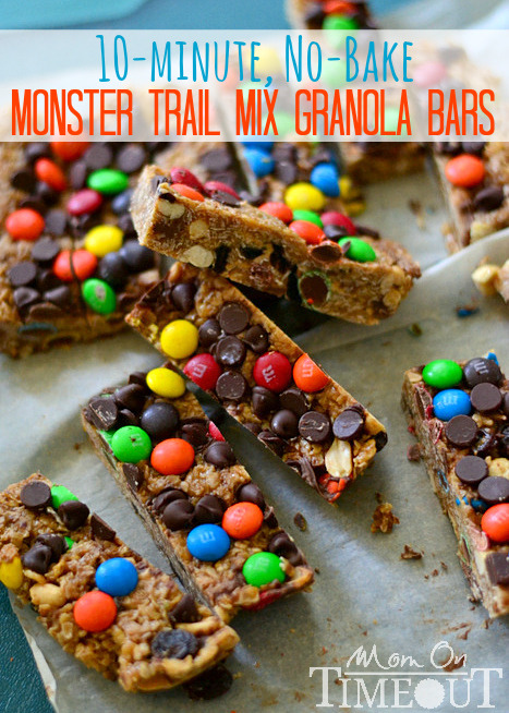 no-bake monster trail mix granola bars.