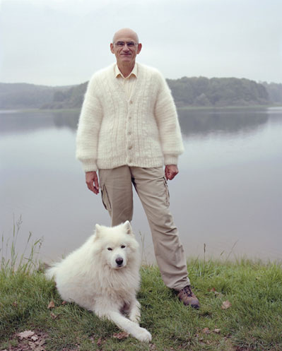 laughingsquid:  Dogwool, Dog Owners Wearing Sweaters Knit Out of Their Dog's Fur  I will do this.