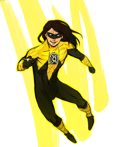 YELLOW LANTERN DAMIAN FOR YOU LUNA!!!