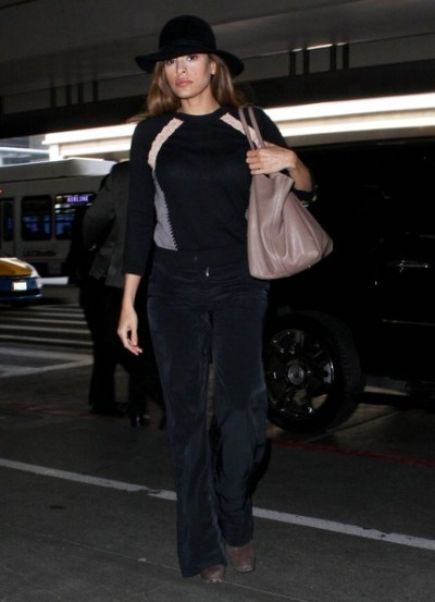 Eva Mendes at LAX on Wednesday…