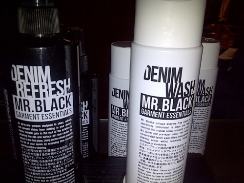 "Mr Black Garment Essentials Denim Refresh & Denim Wash In the world of denim, washing your denim is forbidden (well at least for the first 6 months) so the folklore is foretold. However, the question that has always been asked is what do you use to clean and maintain your denim after the 6 month period and beyond? Well step in to the spotlight Mr Black Garment Essentials. Mr Black is an Australian company that have two products in the market to cater for your denim care. Denim Refresh is what I would call the 'Febreze' for denim. This works by simply spraying the denim with the product and then leaving it to dry before wearing it. The idea behind this is that it prevents stains and odour from settling in the denim, extending the life of denim in-between washing or dry cleaning. Denim Wash is an ""enzyme free"" wash formulated to clean and maintain the ""original colour intensity"" of your denim minimising the effects of washing your denim (shrinkage, stretching and colour-fades) A simple denim care now available at Liberty, check out the 'how to use' video guide here."