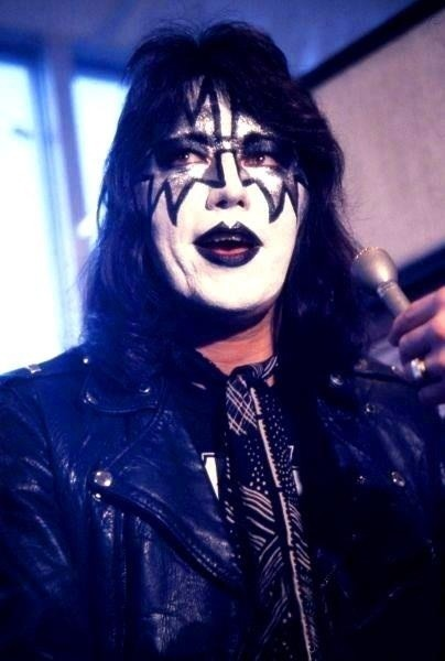 Ace Frehley promoting his solo record in '79. I always wanted a KISS/makeup tour back in the day with regular street clothes. Ace was styling!