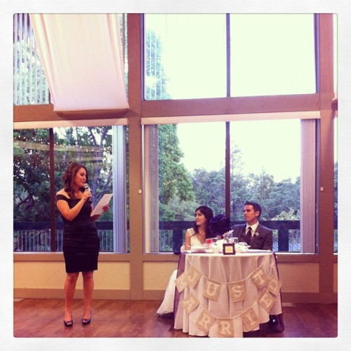 Speeches. #weddings @clairepauly