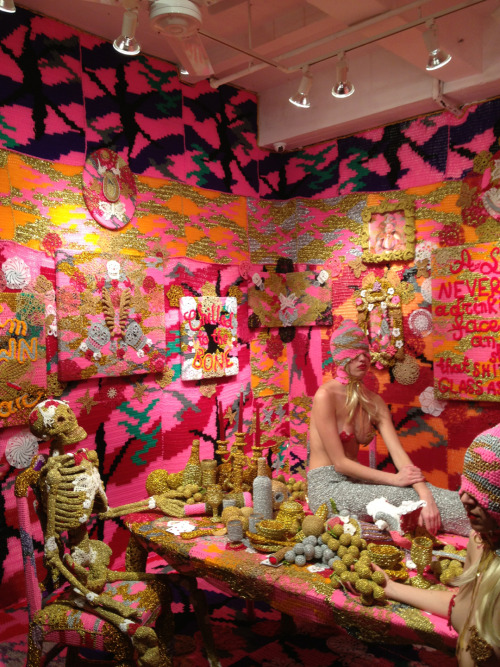 Amazing Olek show at Jonathan LeVine gallery in NYC. She rocks hard - so glad to have met her!