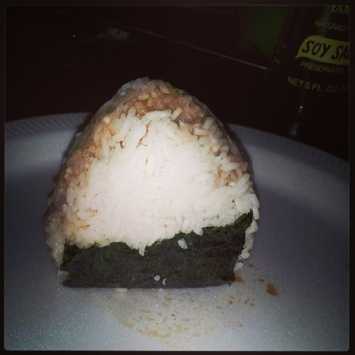 My attempt at a rice ball lol