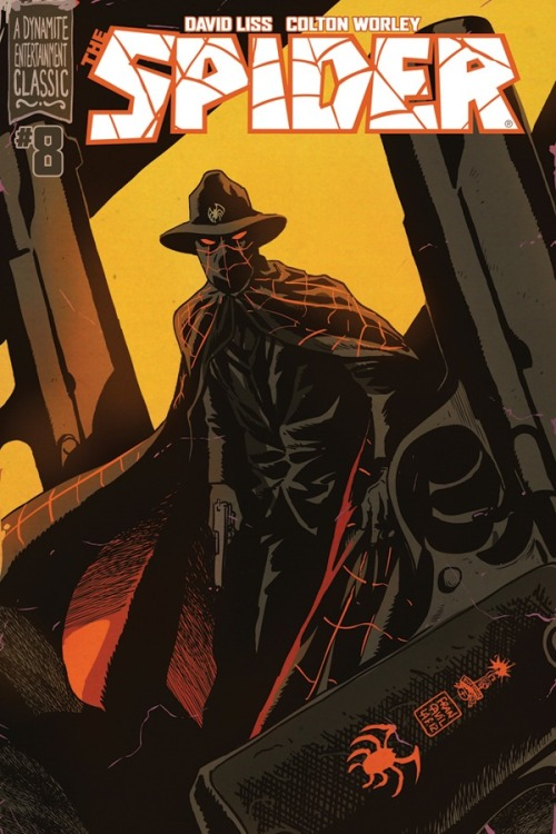 twofistedpulp:  The spider by Francesco Francavilla.