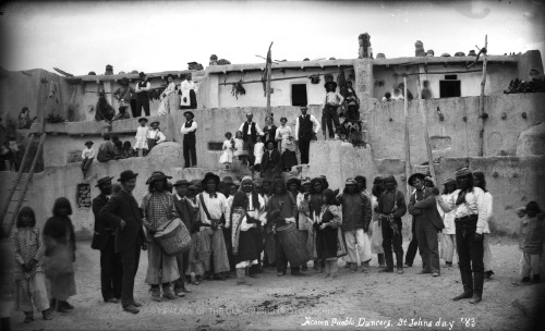 Acoma Pueblo Dancers on Saint John's Day Acoma Pueblo, New Mexico - ca 1883 Photo By: Ben Wittick Negative #016049
