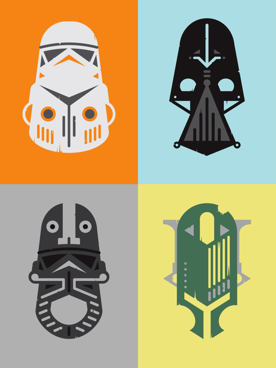 African inspired Star Wars masks by Alex Griendling