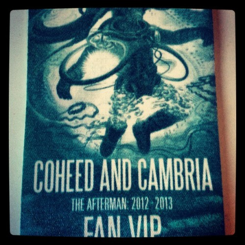 SO CLOSE I CAN TASTE IT! #coheedandcambria #sydney