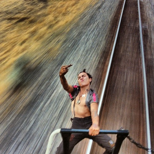 #middlefinger #rebel #train #livingontheedge #speed #youth #travel