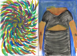 Two-A-Days | Swirls Left: A mind design Right: My roommates dress