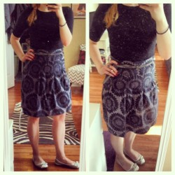 katerinabeth:  {What I Wore: Wednesday, May 15, 2013} Loving these low 70's days :) Top (Target) | Skirt (H&M) | Shoes (Target) | Belt (F21)