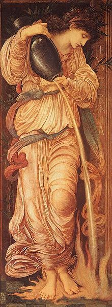 Edward Burne-Jones does #tarot. Temperantia, 1872