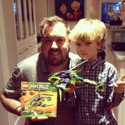 In case you were wondering… The LEGO Ninjago Rattlecopter is now built! #Christmas