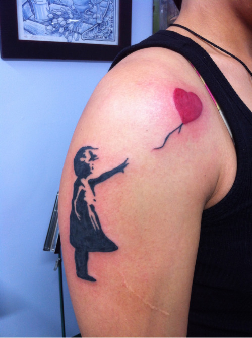 Fun little Banksy tattoo