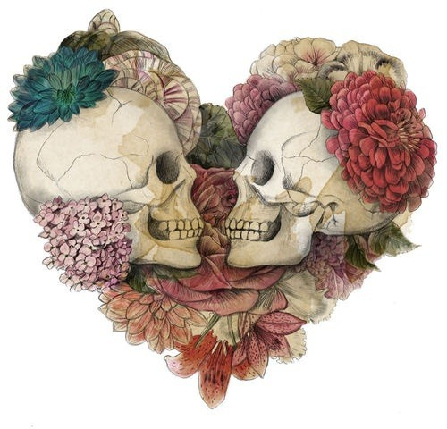 constantlyheartbroken:  skulls are always so happy