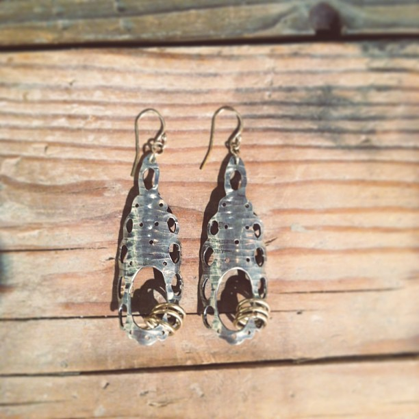 Birch earrings in #silver and #gold  (at Crown Nine)