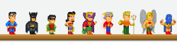 pixelfigures:  The Golden Age of DC Comics Pixel Figure Set