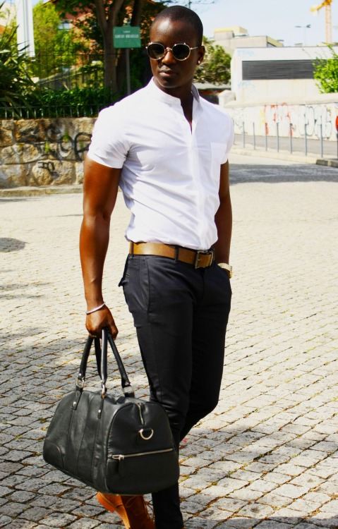 blackfashion:  Hugo boss, Pierre cardin pants , Marc Jacobs … Narid Isaac,24,Porto naridisaac.tumblr.com