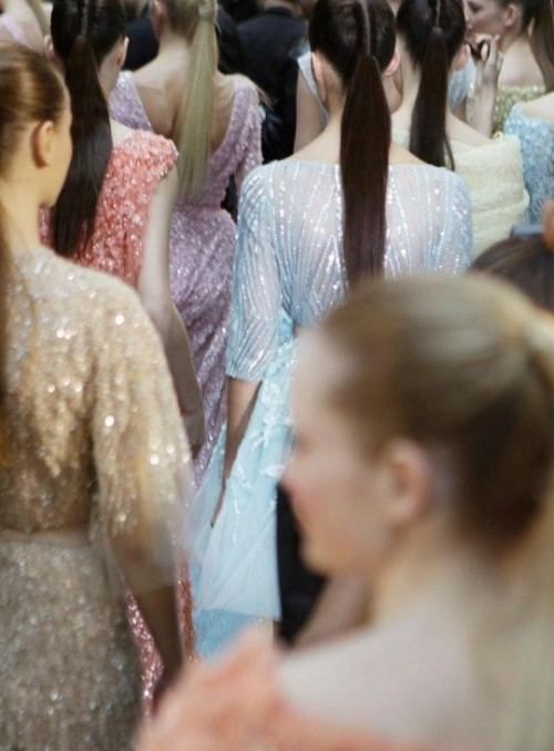 wink-smile-pout:  Backstage at Elie Saab Haute Couture Spring 2012